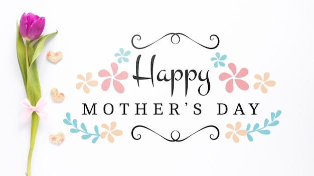 Mockup di giorno di madri con copyspace Psd Gratuite