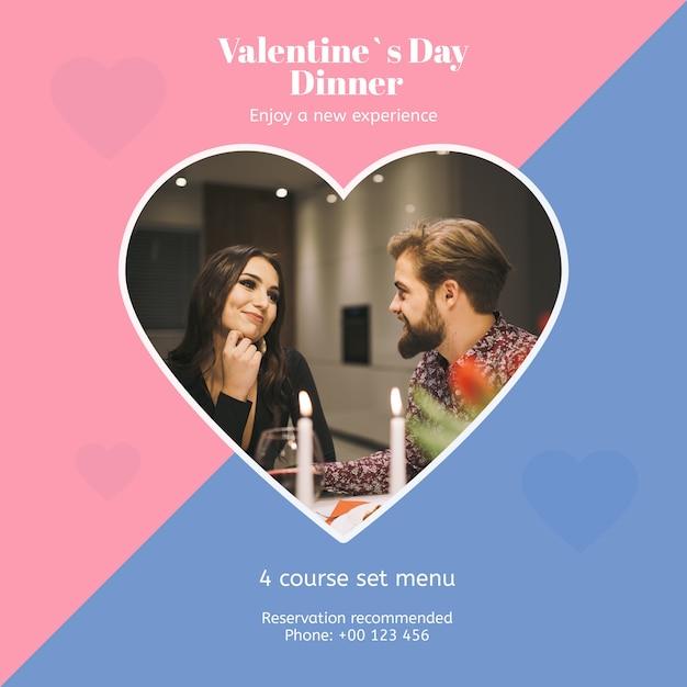 Mockup di giorno di san valentino con l'immagine Psd Gratuite