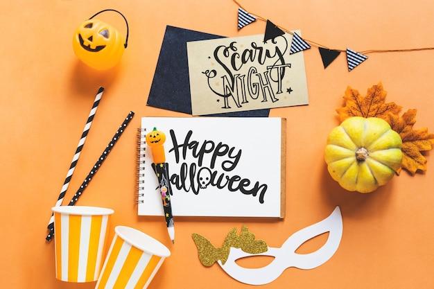 Mockup di halloween creativo Psd Gratuite