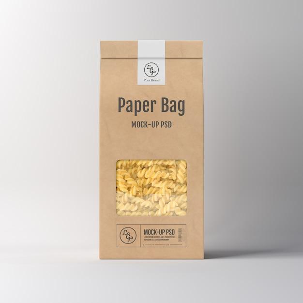 Mockup di imballaggio del sacchetto di carta Psd Premium