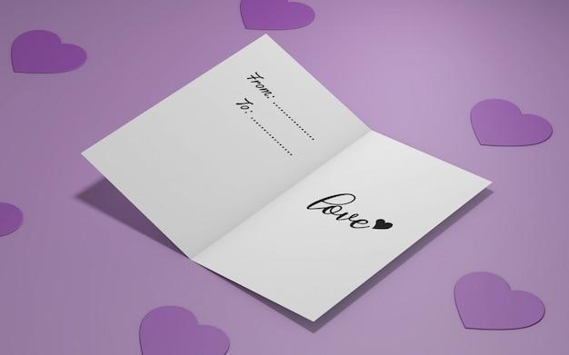 Mockup di invito a una festa di san valentino Psd Gratuite
