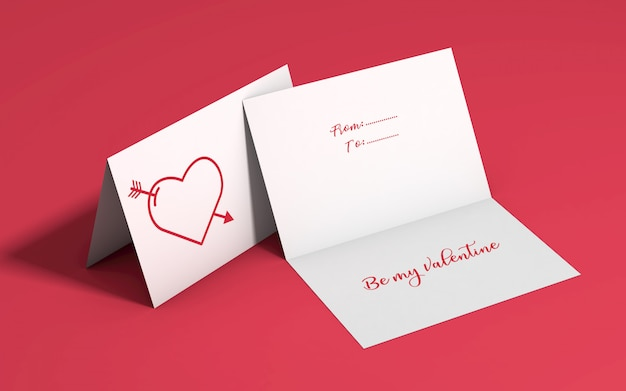 Mockup di invito di san valentino Psd Gratuite