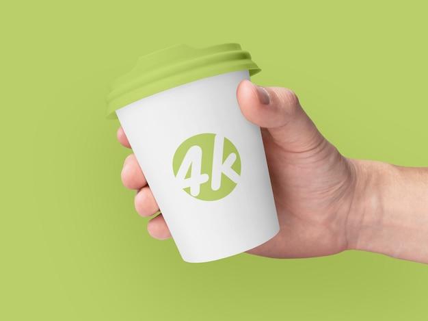 Mockup di marca di tazza di caffè di carta Psd Premium