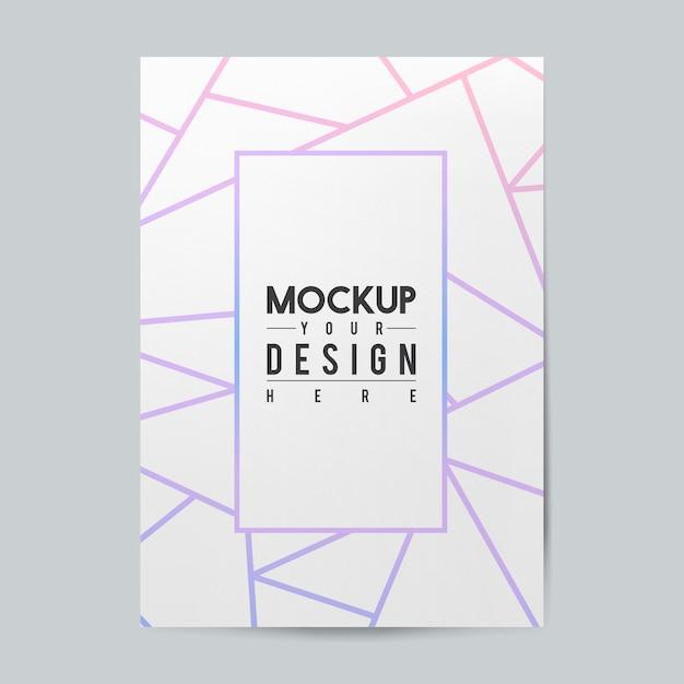 Mockup di modello di brochure di carta bianca Psd Gratuite