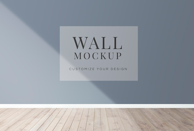Mockup di muro bianco Psd Premium