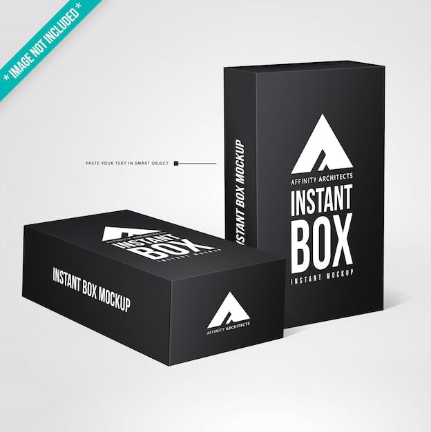Mockup di packaging nero Psd Premium