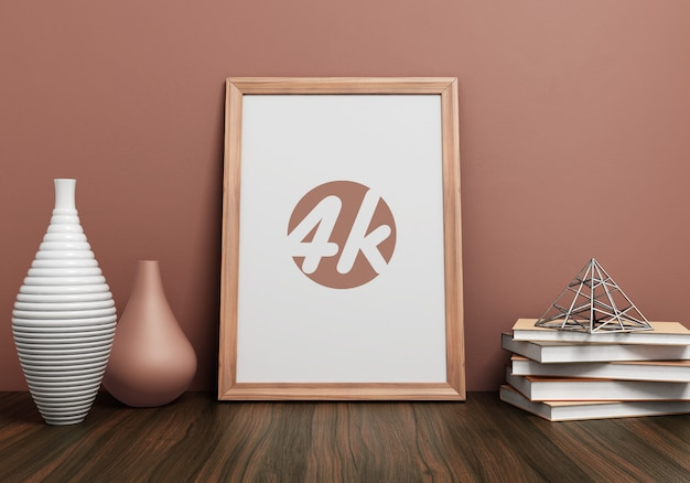 Mockup di photo frame interno Psd Premium
