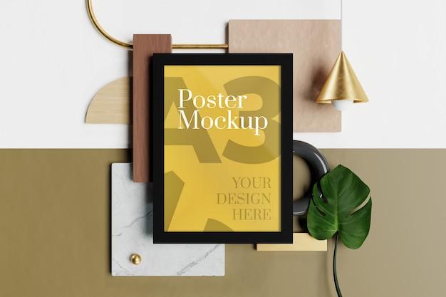 Mockup di poster a3 Psd Premium