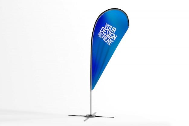 Mockup di pubblicità bandiera Psd Premium