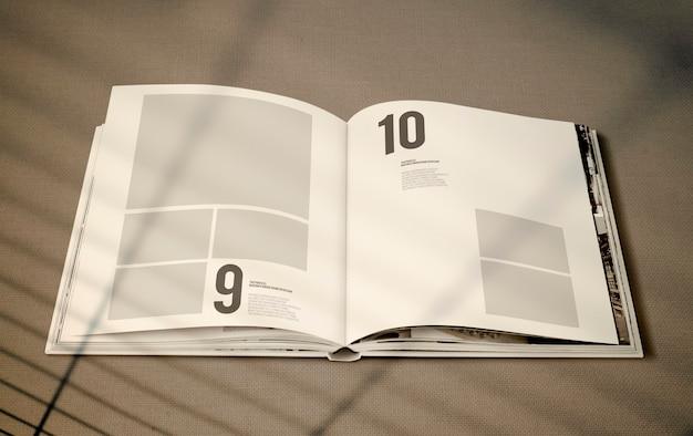 Mockup di rivista con uno spazio vuoto Psd Gratuite