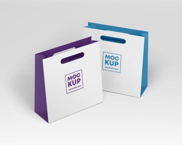 Mockup di sacchetti di carta Psd Premium