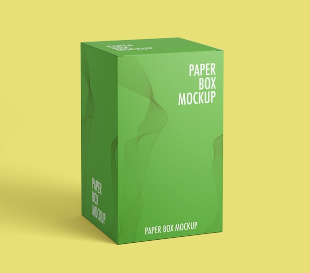 Mockup di scatola di carta Psd Premium
