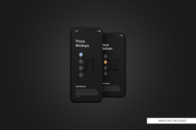 Mockup di schermo del telefono cellulare nero Psd Premium