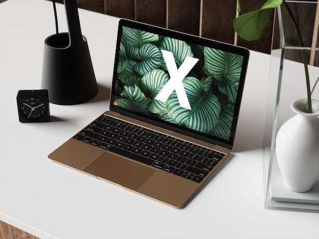 Mockup di scrivania Psd Premium