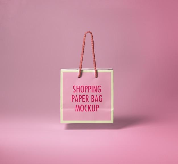 Mockup di shopping bag di carta Psd Premium