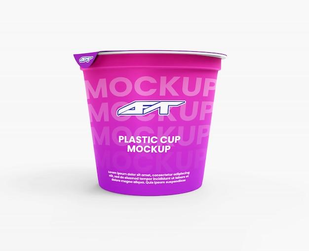 Mockup di tazza di plastica Psd Premium