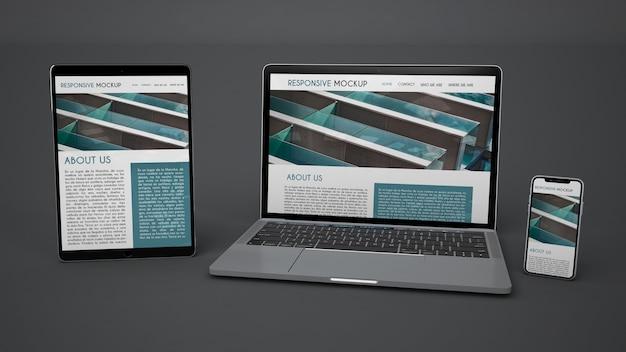 Mockup de dispositivos electrónicos PSD Premium