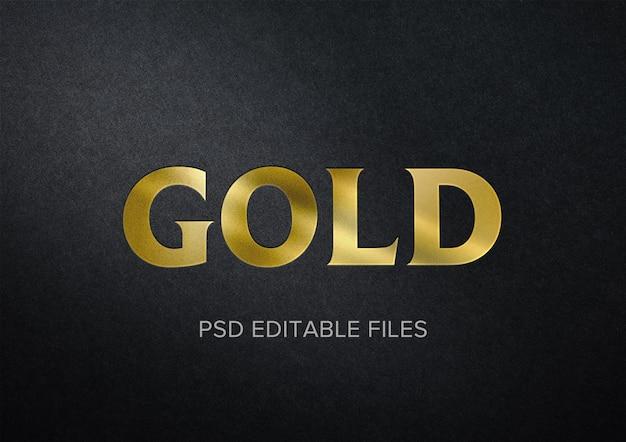 Mockup effetto testo oro realistico Psd Premium