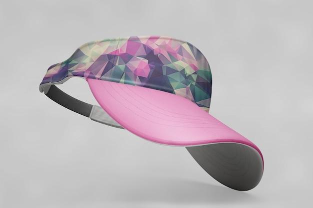 Mockup de gorra de béisbol rosa PSD gratuito