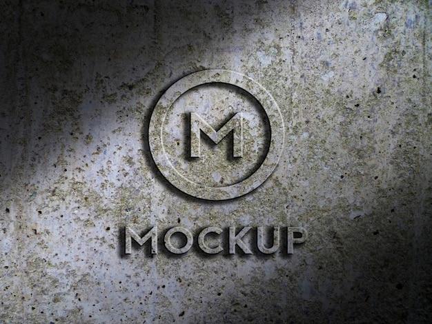 Mockup grunge-logo Premium Psd
