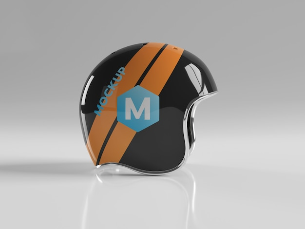 Mockup isolato casco della motocicletta Psd Premium