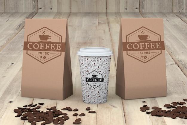 Mockup koffiekopjes Gratis Psd