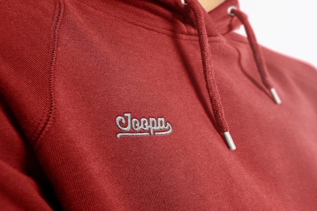 Mockup-logo met geborduurd logo Premium Psd