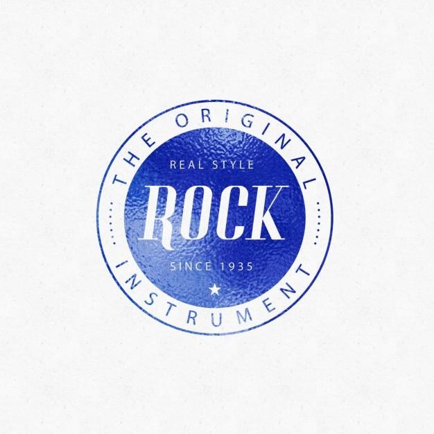 Mockup de logotipo azul PSD gratuito