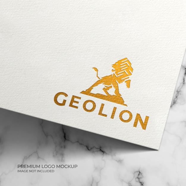 Mockup met gouden folie-logo Premium Psd