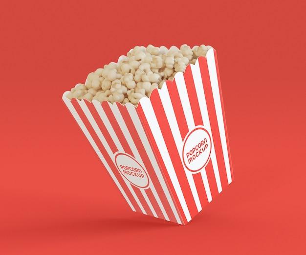 Mockup met popcornemmer Premium Psd