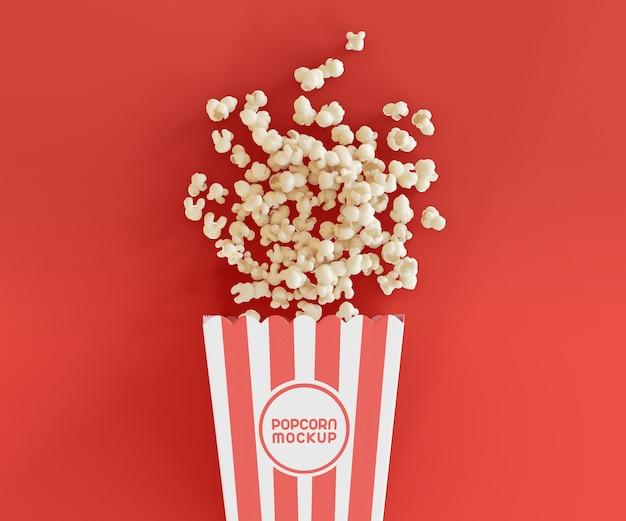 Mockup met popcornemmer Gratis Psd
