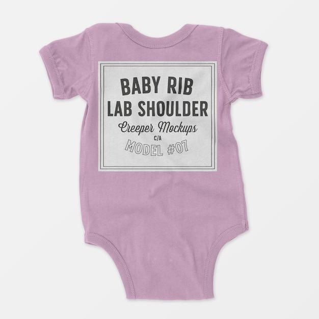 Mockup met schouderribben voor babyribben Gratis Psd