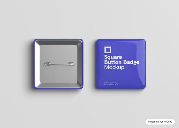 Mockup met vierkante knop badge Premium Psd