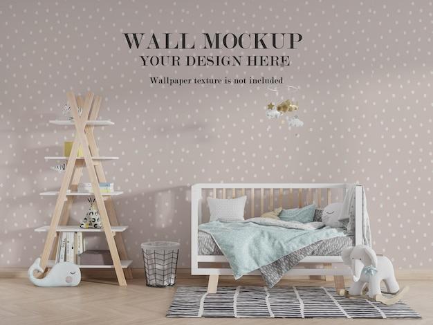 Mockup-mockup voor kinderkamer met accessoires-ideeën Premium Psd