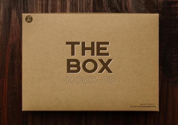 Mockup-ontwerp van papieren kartonnen doos Premium Psd