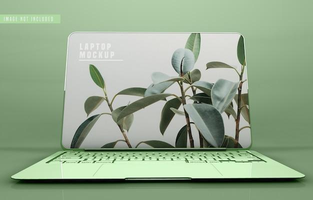 Mockup-ontwerp voor laptop op volledig scherm Gratis Psd