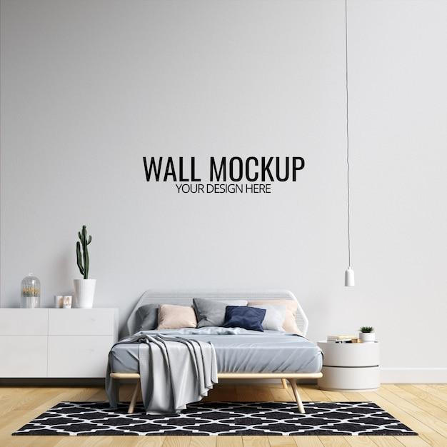 Mockup parete interna camera da letto Psd Premium
