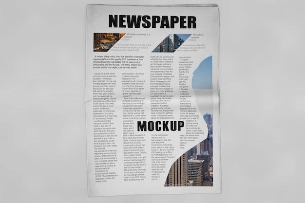 Mockup de periódico PSD gratuito