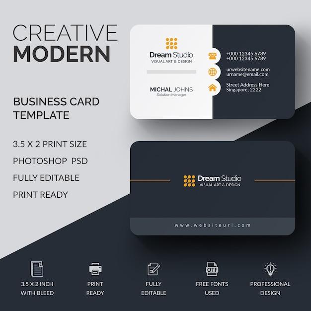 Mockup profesional de tarjeta de visita PSD Premium