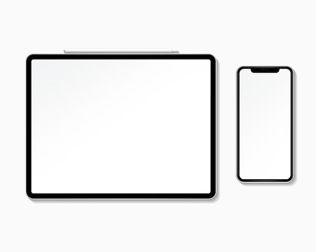 Mockup-set voor digitaal apparaat Gratis Psd