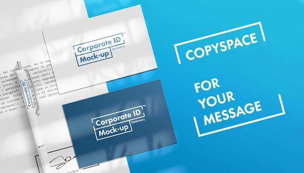 Mockup-set voor zakelijke briefpapier Premium Psd
