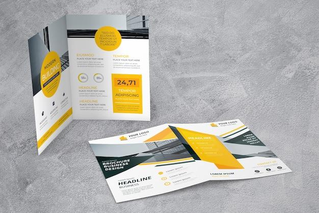 Mockup de showcase de folleto PSD gratuito
