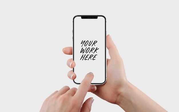 Mockup-sjabloon voor mobiele telefoonscherm Premium Psd