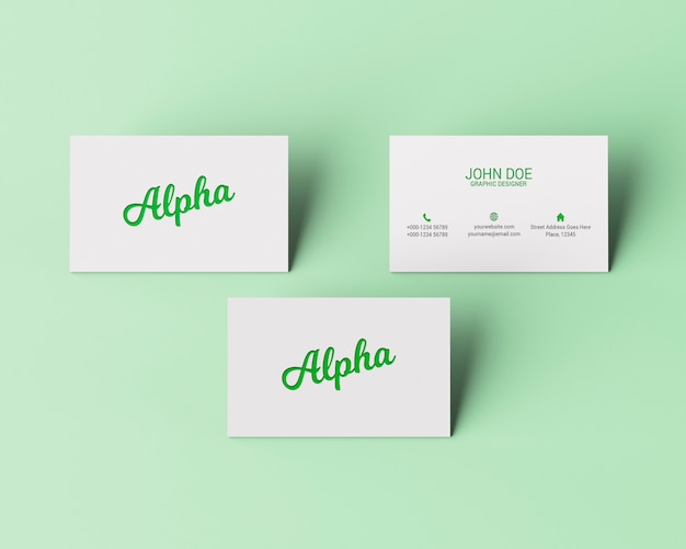 Mockup slanding business card Psd Premium