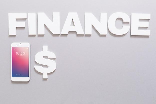 Mockup de smartphone con concepto de finanzas PSD gratuito