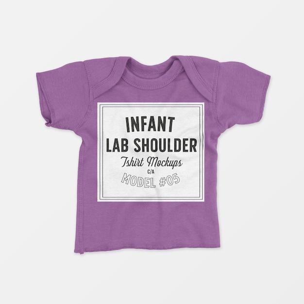Mockup t-shirt met ronde schouder voor baby's 05 Gratis Psd