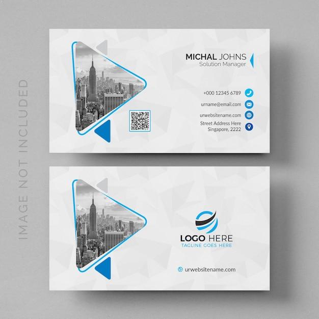 Mockup de tarjeta de visita moderna blanca PSD Premium
