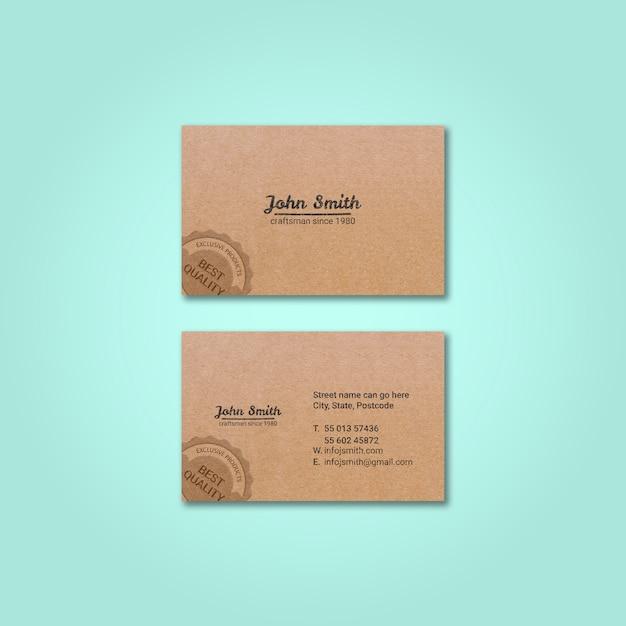 Mockup de tarjeta de visita vintage PSD gratuito