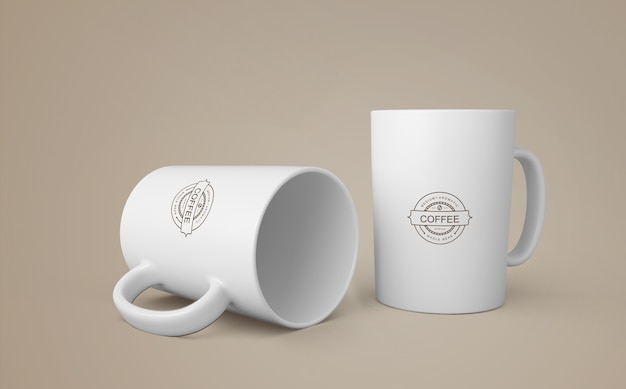 Mockup de taza de café para merchandising PSD gratuito