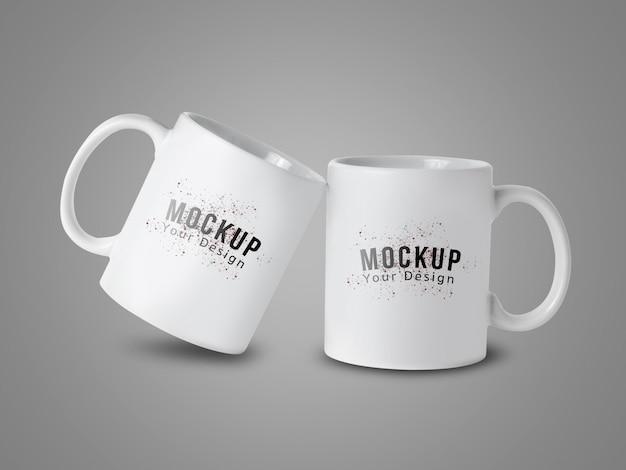 Mockup tazza tazza bianca per il vostro disegno Psd Premium